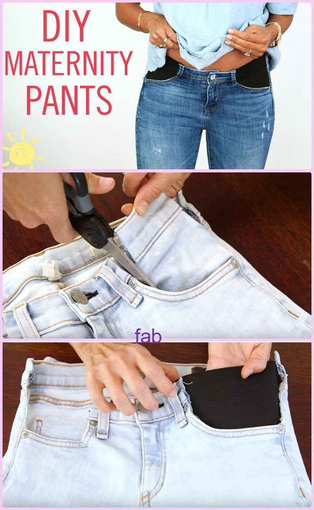DIY Maternity Jeans Hack Tutorial-Video -   12 DIY Clothes Recycling thoughts ideas