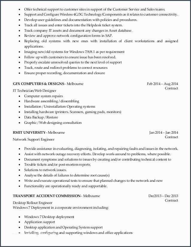 35 It Support Engineer Sample Resume Job Resume Samples It Support Technician Sample Resume