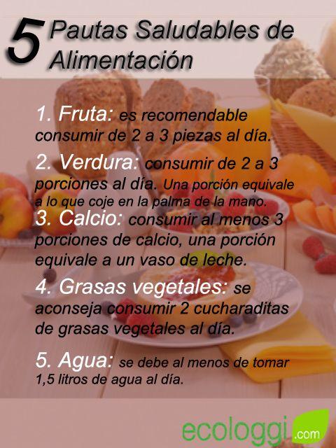 3 pautas para una dieta saludable
