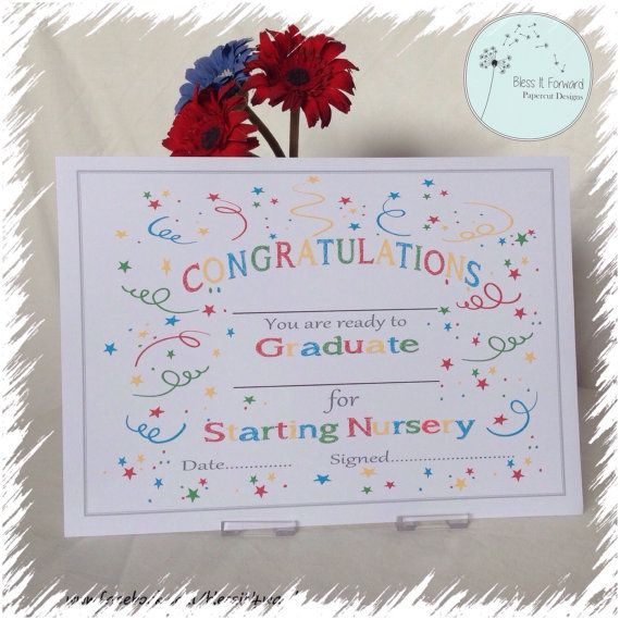 Starting Nursery \/School Certificate - Fill In your own - PDF file - school certificates pdf