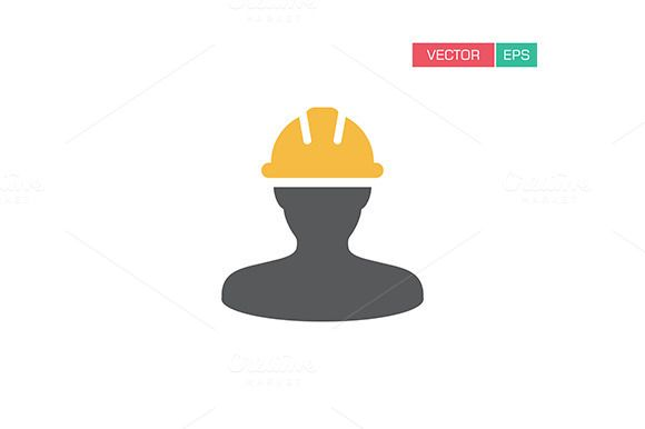Construction Worker Icon Vector Logo Design Icon Construction Worker