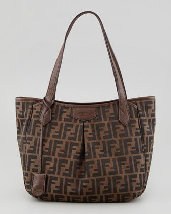 Zucca Piccola Tote Bag, Brown by Fendi at Neiman Marcus.