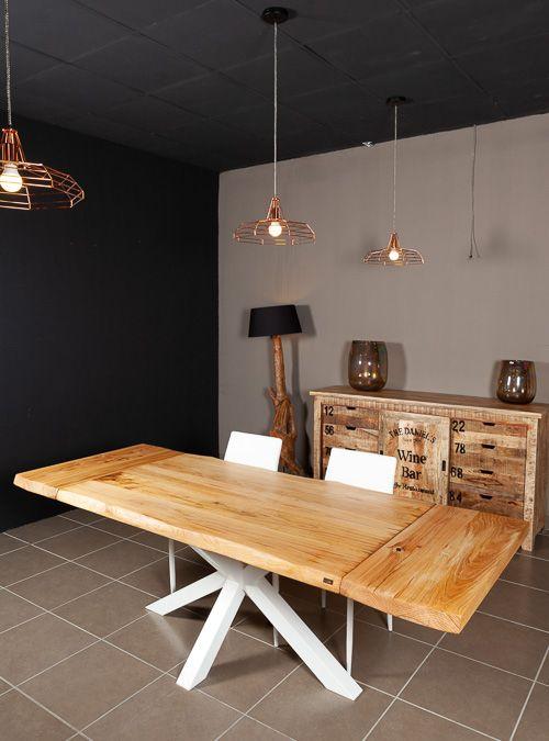Tavolo allungabile in legno naturale di castagno Stephen ...
