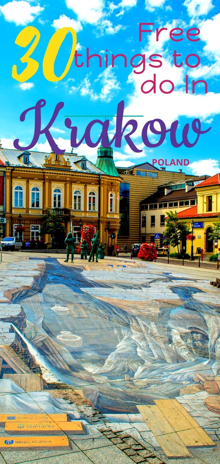 Looking for the free things to do in Krakow? Check this ultimate #travelguide to find out how to travel cheaply in #Krakow, Poland's beloved city! #Polandtravel #Polandguide #Krakowguide #Krakowtravel