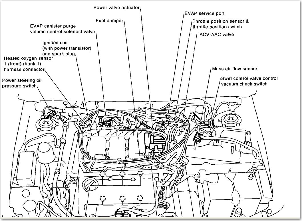Nissan Altima Vacuum Hose Diagram On Nissan O2 Sensor