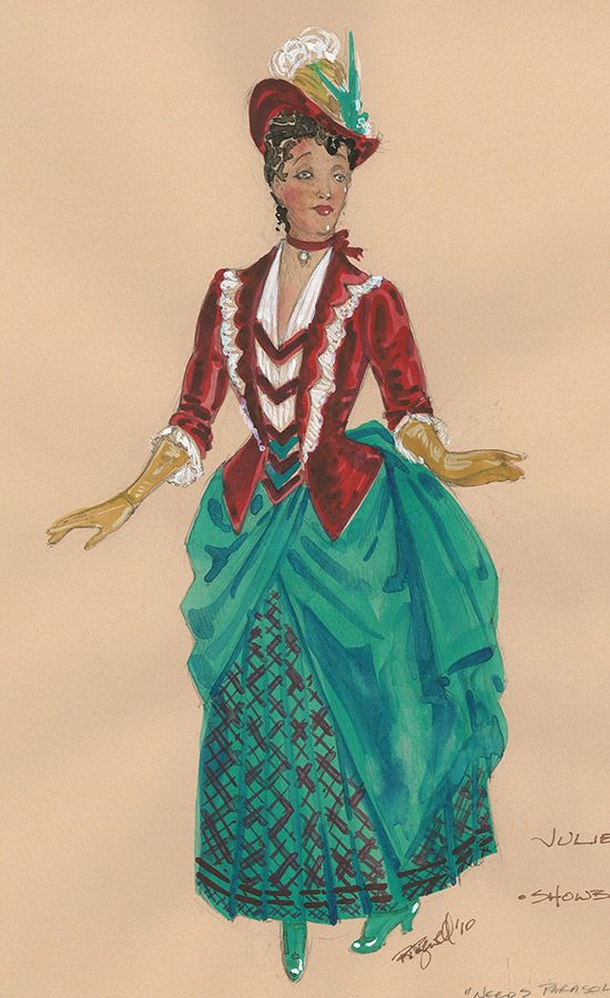 Costume renderings by Paul Tazewell for Show Boat : hms costumes  - Germanpascual.Com
