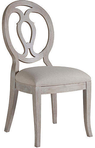 Artistica Axiom Side Chair Bianco White Solid Wood Dining