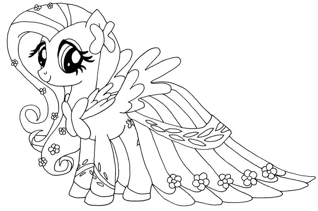 Fluttershy Coloring Pages Cartoon Coloring Pages My