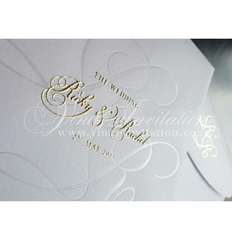 how to emboss wedding invitations diy%0A Invitation  Wedding invitation  Gold foil emboss invitation  Gold foil   Gold hot stamp  Gold foil hot stamp  Sydney  Australia wedding  Courtesy of  Ricky