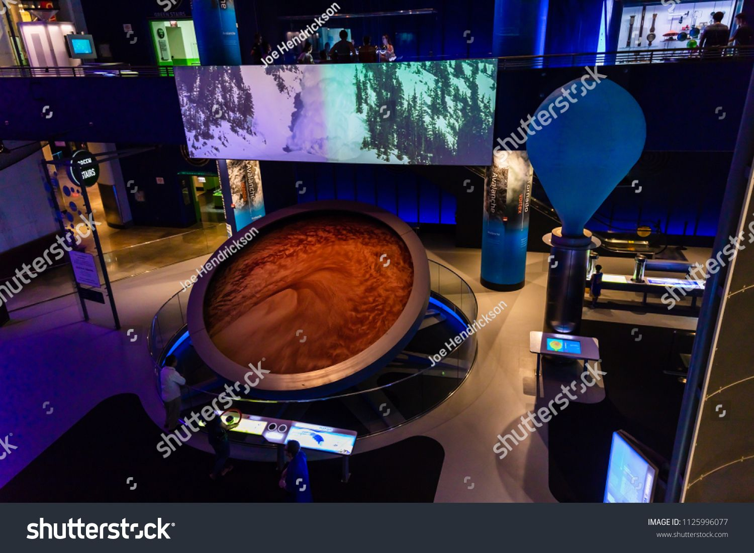 Chicago Il Usa June 24 2018 The Museum Of Science And Industry Features A Science Storm Exhibit That Has An Example Chicago Il Photo Editing Stock Photos