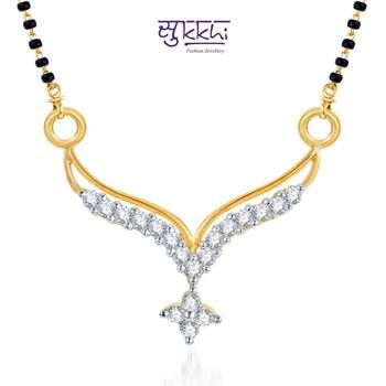 Sukkhi Traditional Marriage CZ Gold and Rhodium Plated mangalsutra(119M400)
