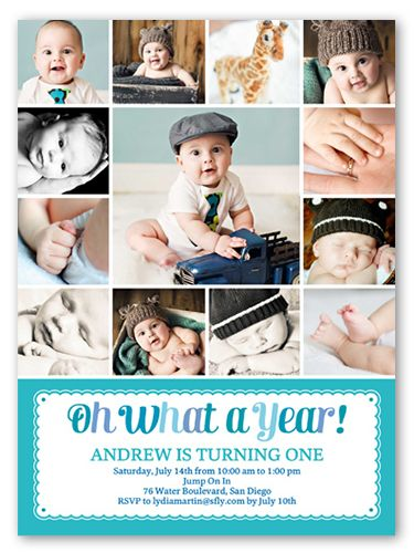 what a year boy first birthday invitation in 2018 products