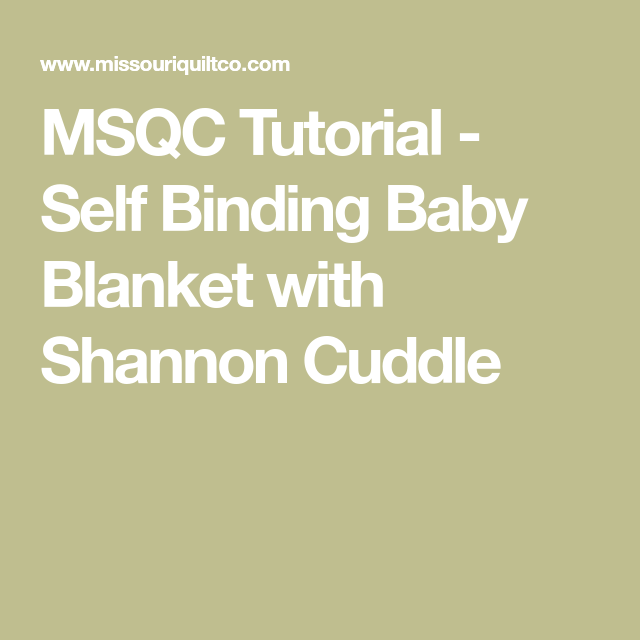 Self Binding Baby Blanket With Shannon