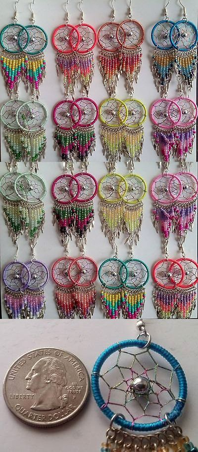 Wholesale Dream Catchers Interesting Mixed Lots 64508 Wholesale 60 Pairs Thread Earrings Dream Catcher Decorating Design