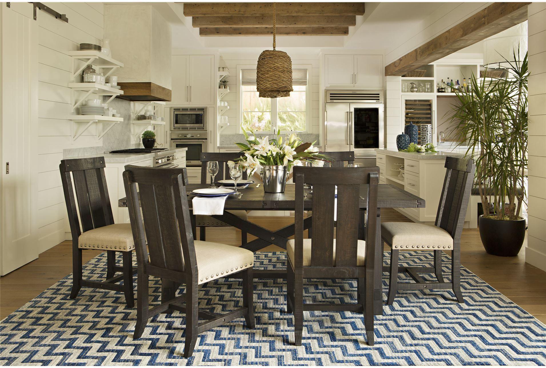 Kitchen bistro set  Jaxon  Piece Rectangle Dining Set WWood Chairs  Dining Room