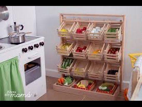 como hacer muebles con cajones de verduras youtube