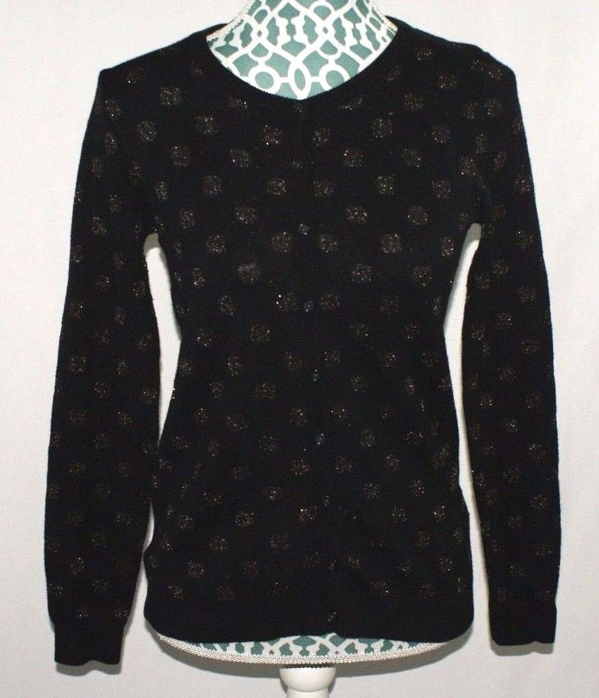Details about Old Navy Black Cardigan Sweater Shirt Long Sleeve ...