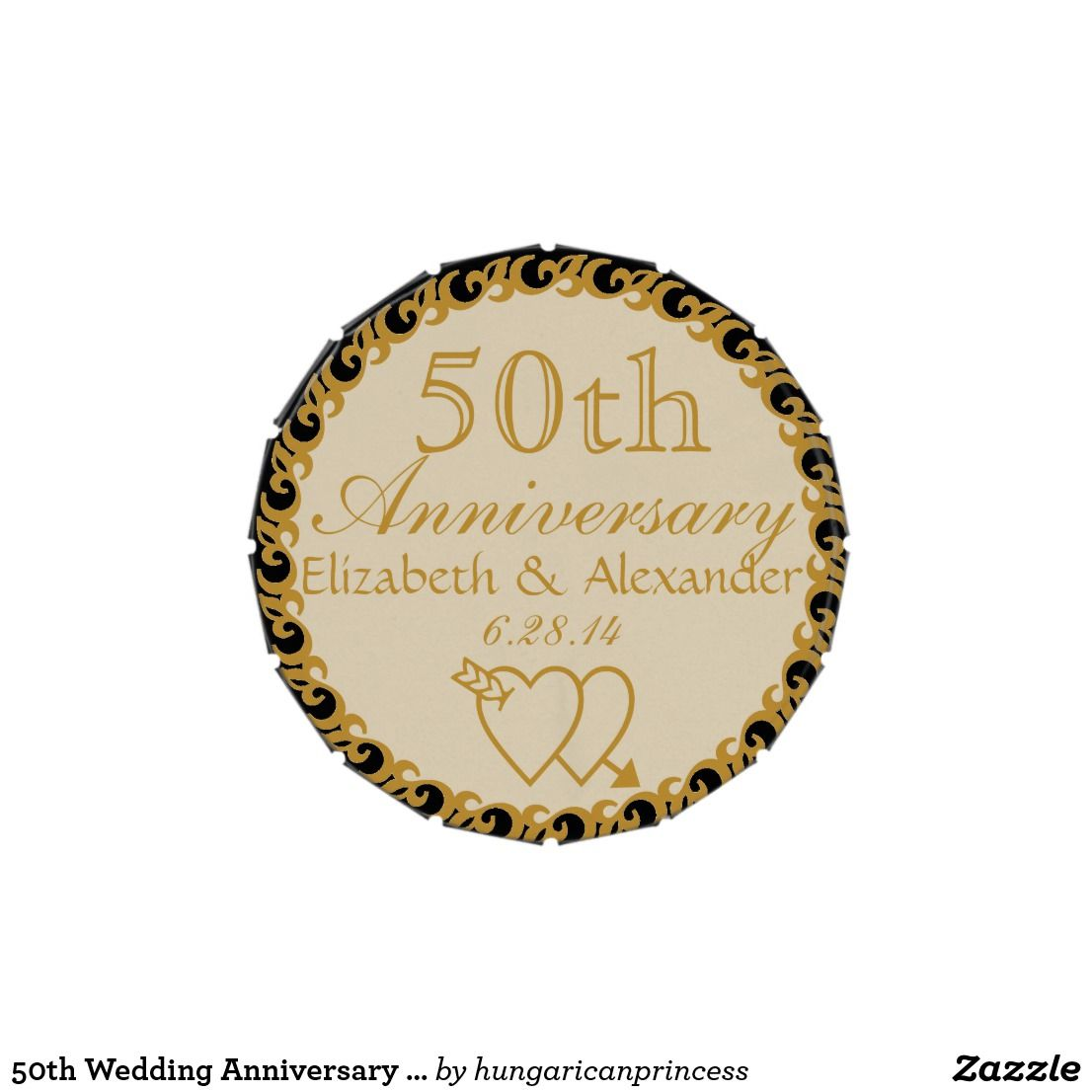 50th Wedding Anniversary Favor-Mints Candy Tin | Anniversary favors ...