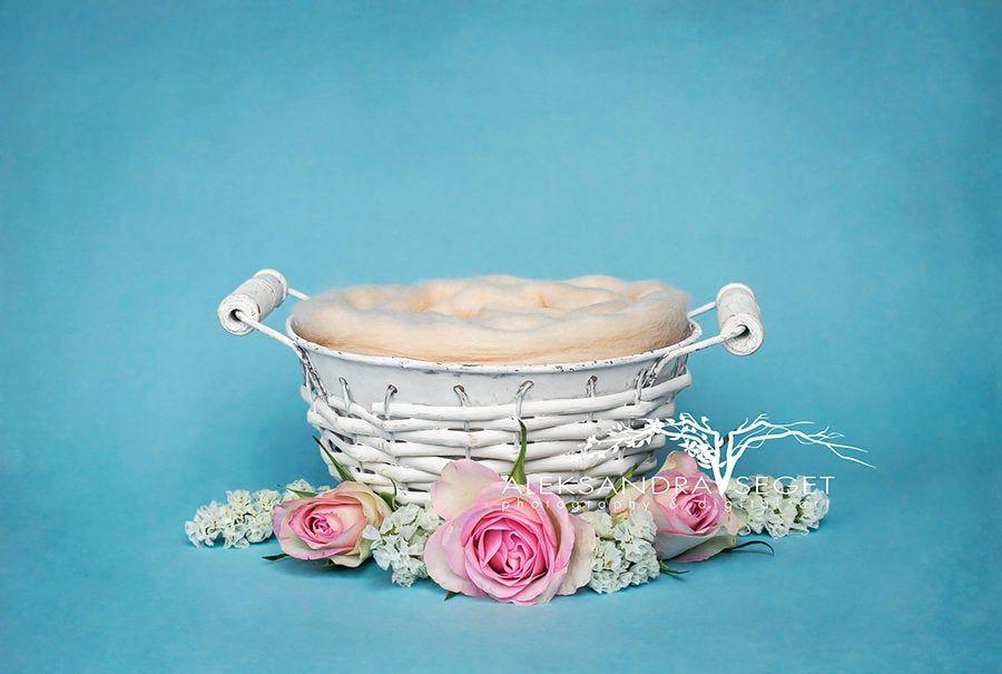 SALE 50/% OFF!! Flower Basket Digital Baby Prop Backdrop Newborn Digital Backdrop  Newborn Digital Background **Download JPEG File** #13
