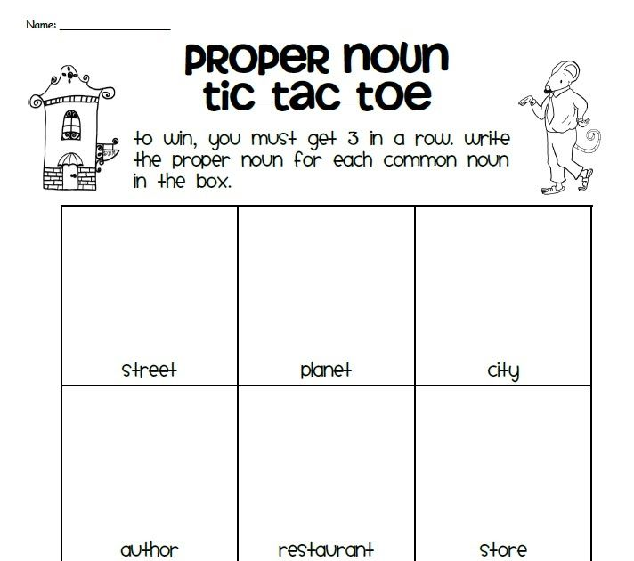 Classroom Freebies: Proper Nouns