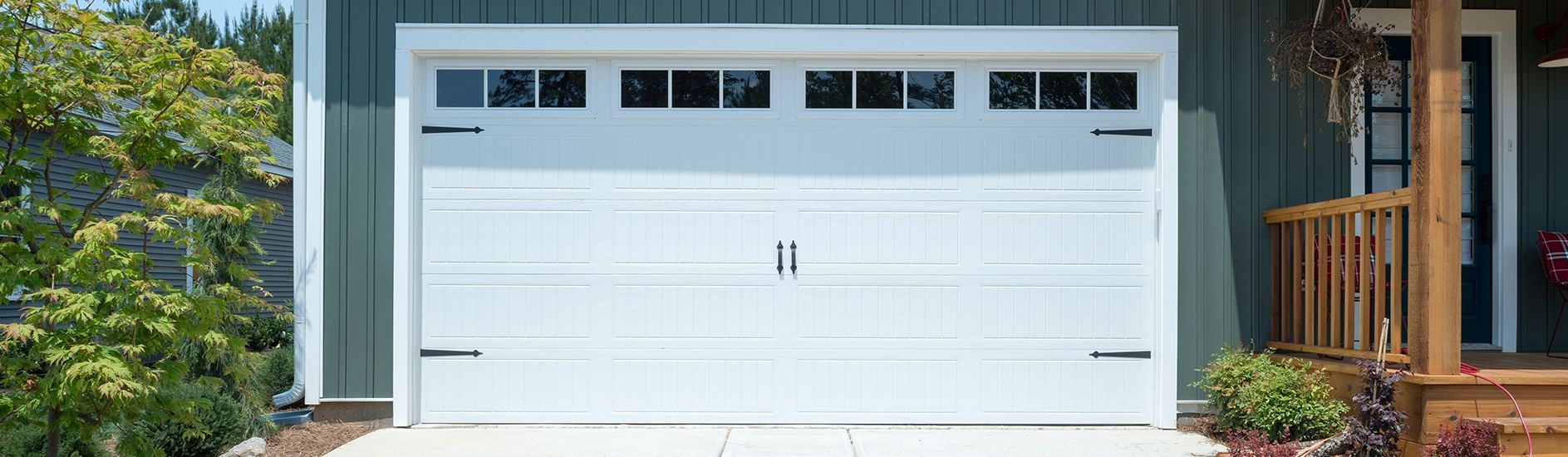The Incredible as well as Interesting Colonial Raised Panel Garage