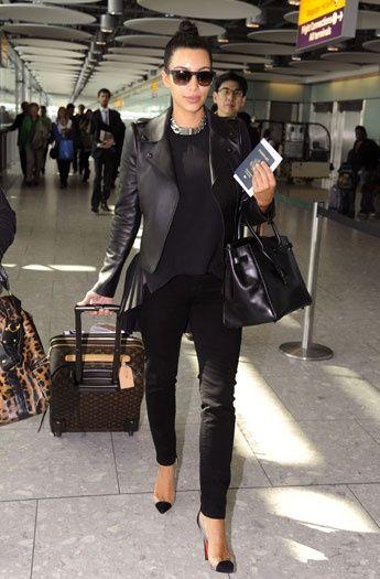 f14adff9fa Kim Kardashian Touched Down At Heathrow Airport In True Kardashian Style