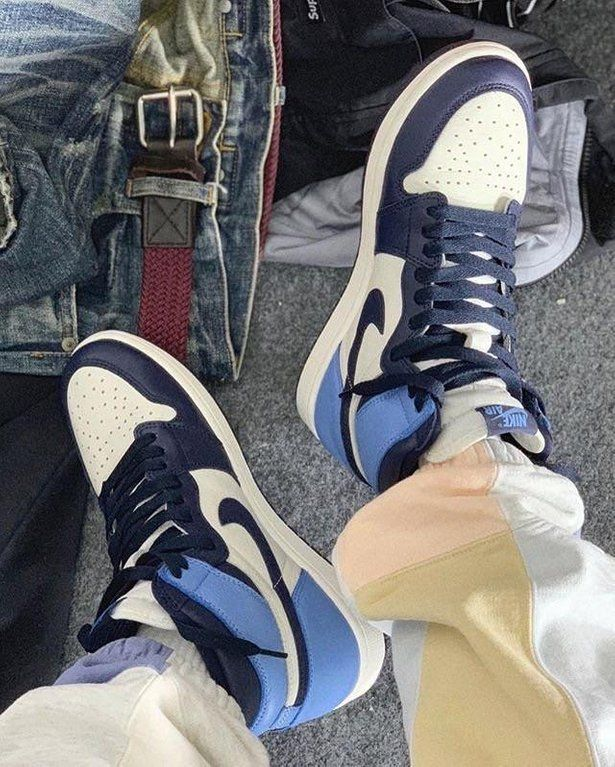 Obsidian Blue 1s On Feet Dropping August 17th Sneakers With
