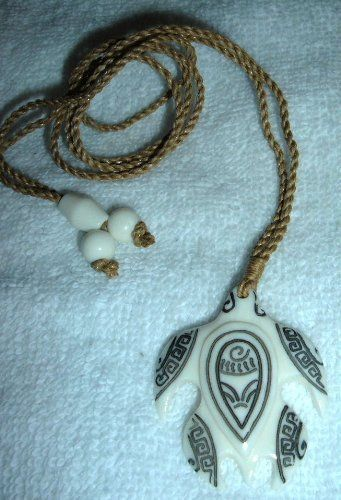 Hawaiian honu tribal tattooed sea turtle carved bone pendant hawaiian honu tribal tattooed sea turtle carved bone pendant necklace aloadofball Gallery