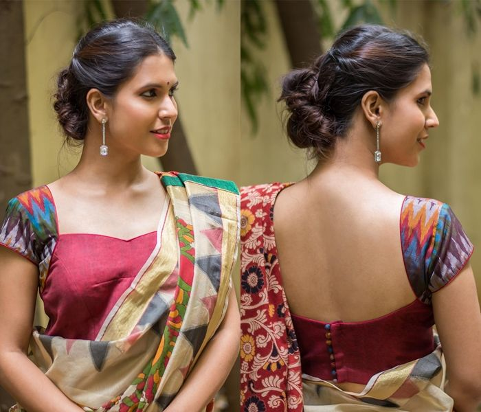 668e5691f7fd37 Get the ultimate guide on how to create your own designer saree blouses,  with all the tops you have in your closet. Get the latest on saree drapes  and new ...