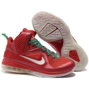 Nike LeBron 9 ChristmasRed/White Sport