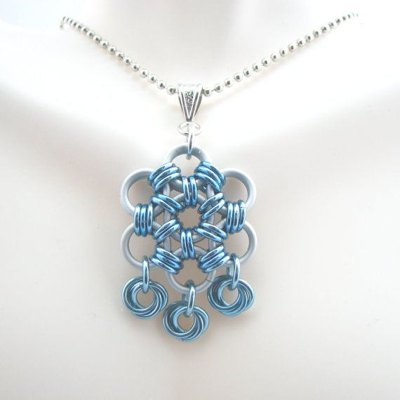 Elsa Chainmaille Pendant by dancingleafstudios on Etsy
