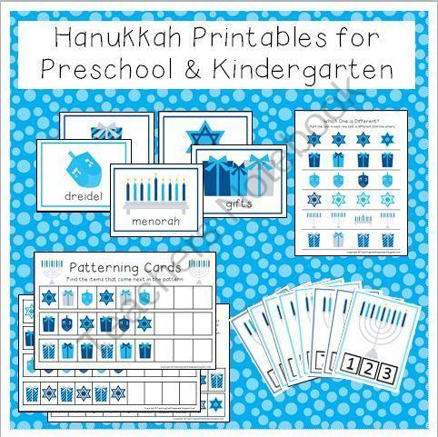 Hanukkah Printable Activities for Preschool and Kindergarten ...