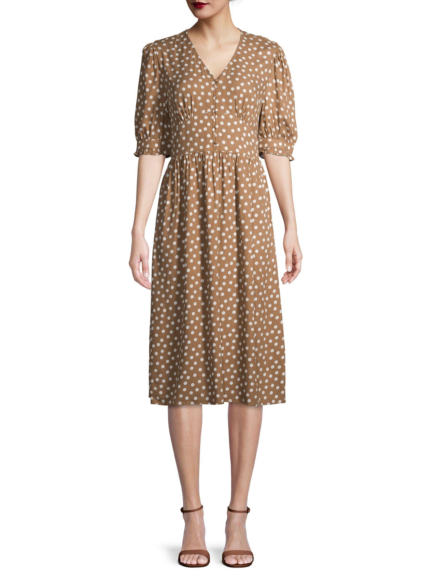 Time And Tru Time And Tru Women S Midi Dress Walmart Com Womens Midi Dresses Dresses Simple Summer Dresses [ 2000 x 1500 Pixel ]