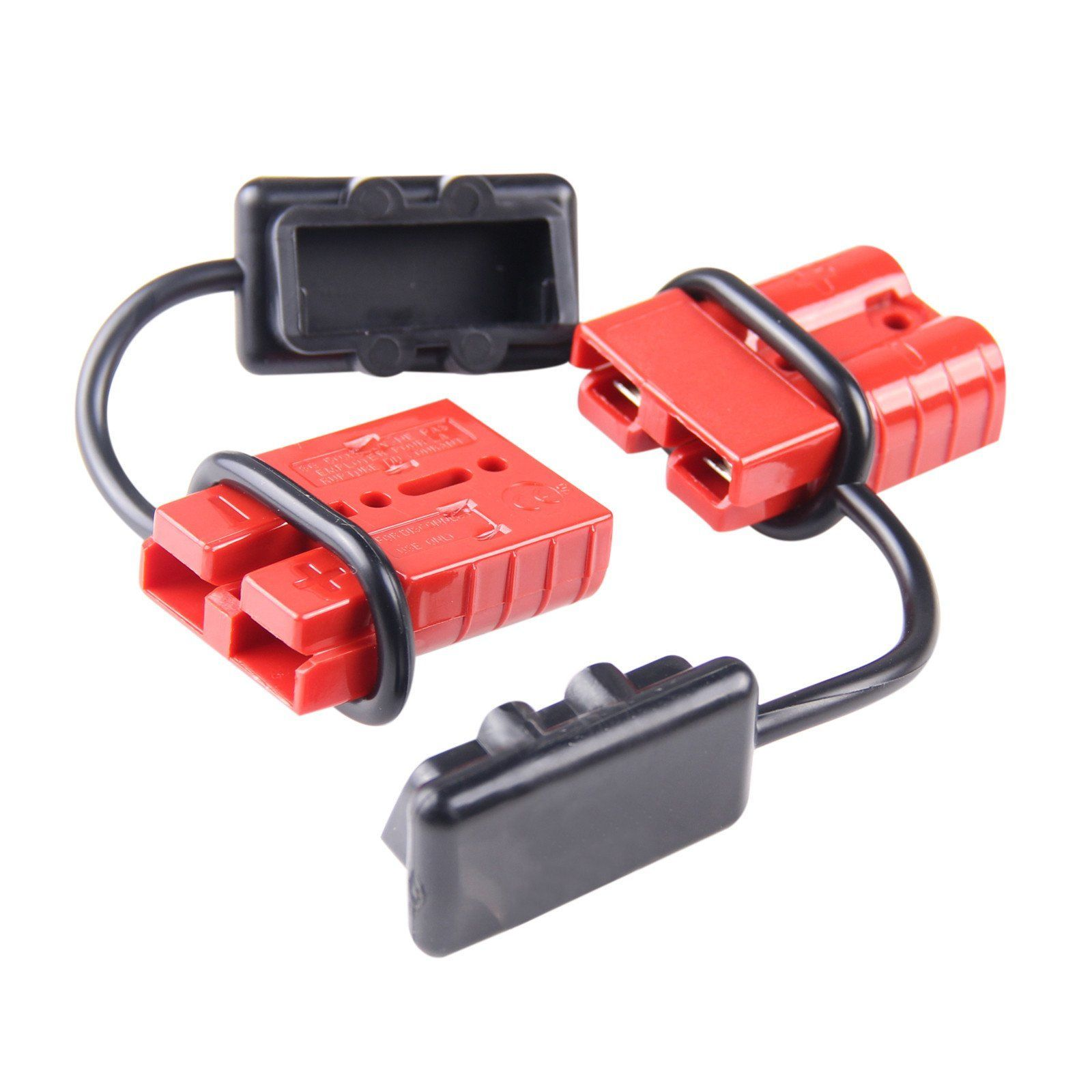 Universal 6 10 Awg 120a Battery Connect Quick Connector Plug For 12v Winch Trailer Driver Wire Connectors Winch Forklift