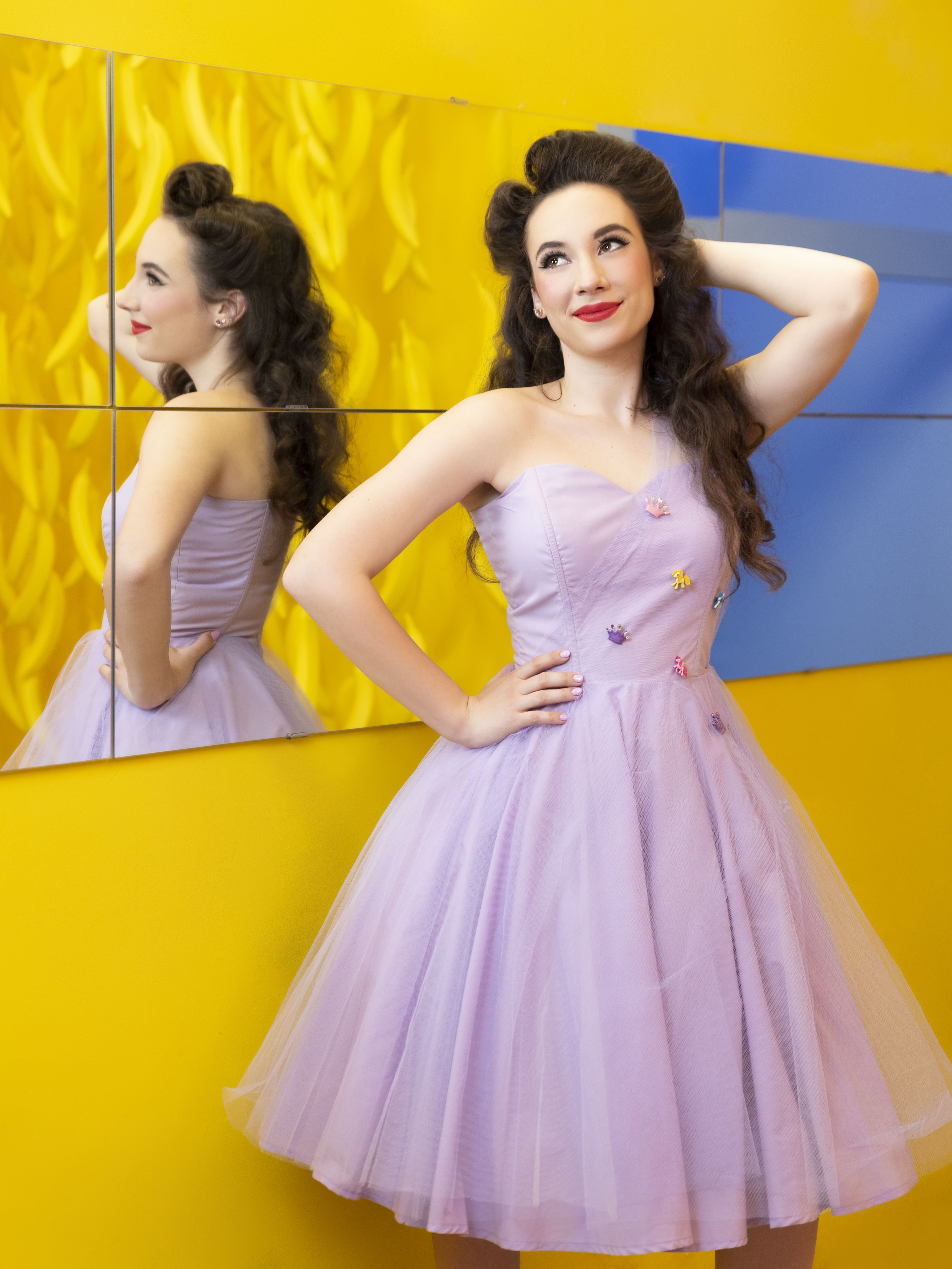 I Love LUcy style retro pin up dress by pinkbubblesclothing