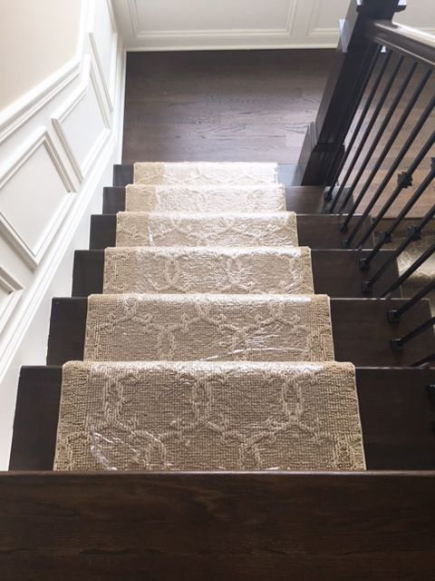 Best Tan Patterned Runner Installation Staircase Inspiration 400 x 300
