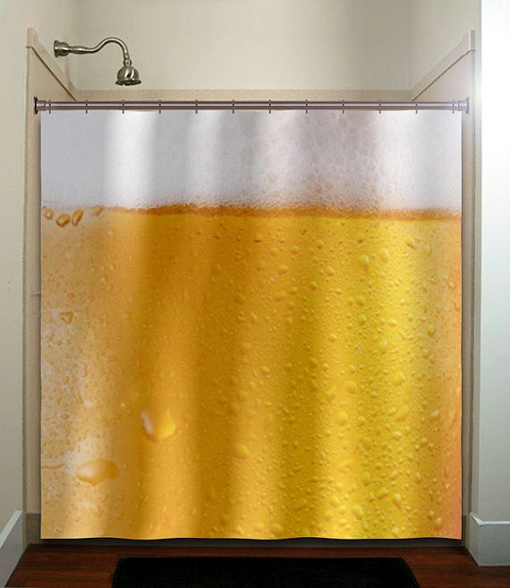 Frothy Beer Shower Curtain Extra Long Fabric Shower Curtains