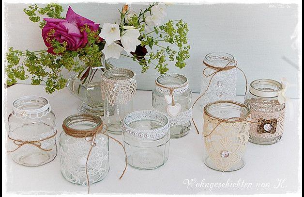 Ein Windlicht Für Die Tischdeko Zur Hochzeit Taufe