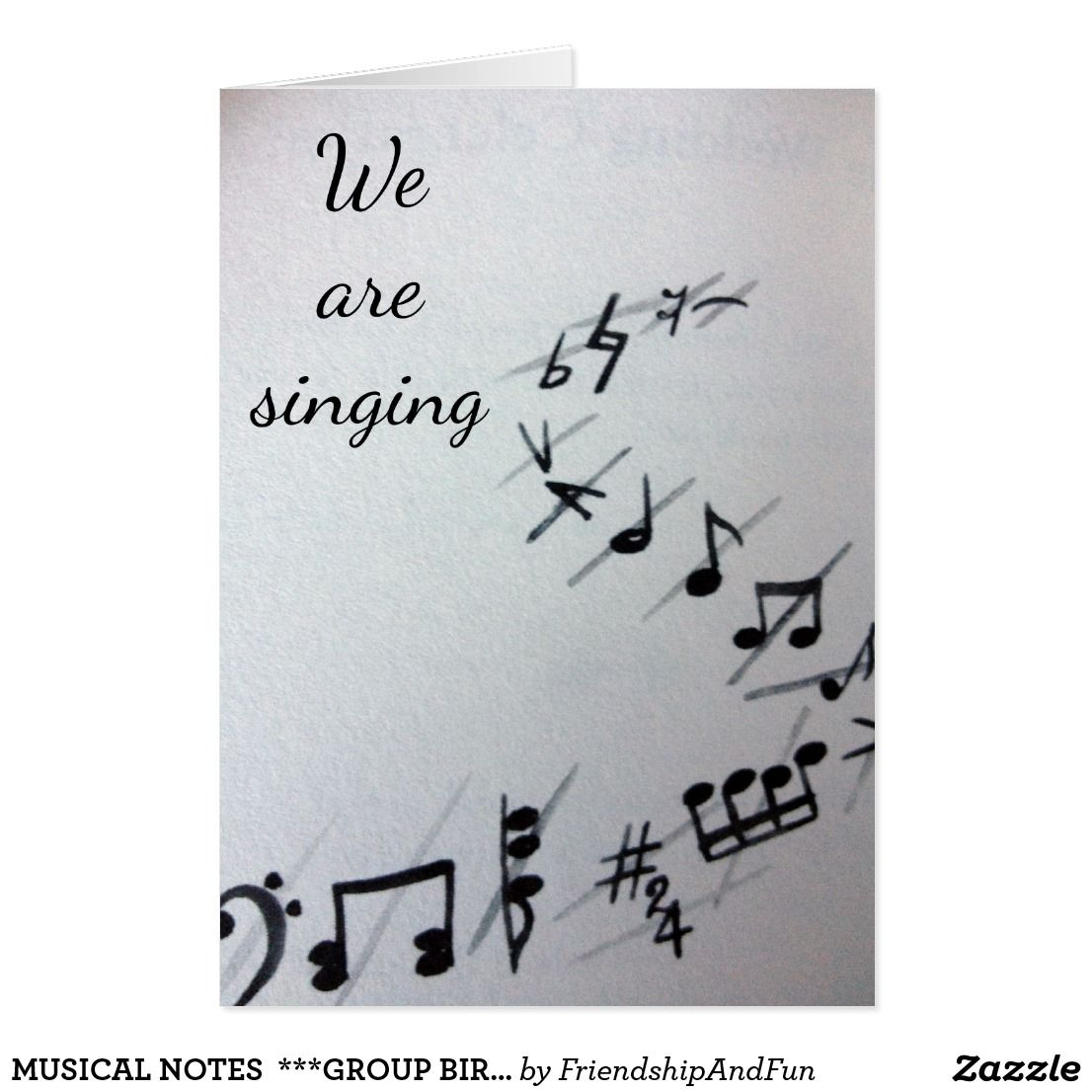 Musical notes group birthday card bookmarktalkfo Gallery
