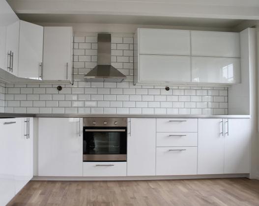 Ikea Ringhult Kitchen In Gloss White Ikea White Kitchen