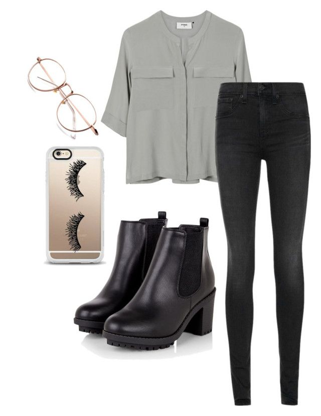 """""""Outfit 2"""" by semaapaydin ❤ liked on Polyvore featuring PYRUS, rag & bone and Casetify"""