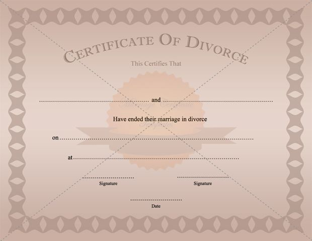 Divorce Certificate Template Printable - print divorce papers