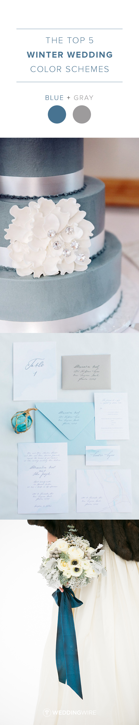 The Top 5 Winter Wedding Color Schemes: Blue and Gray Winter Wedding ...