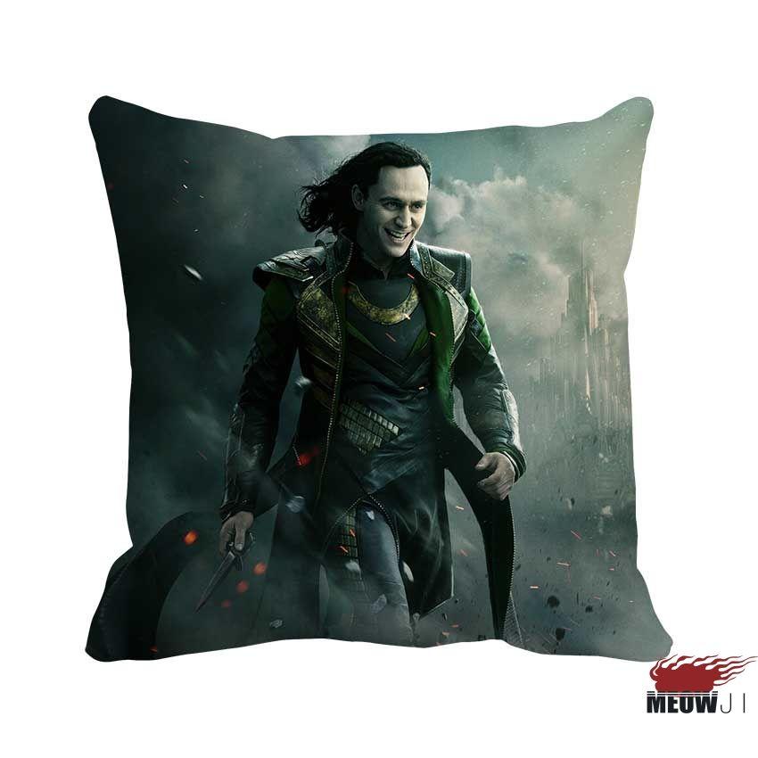 Loki Tom Hiddleston Multi Size Throw Pillow Case Free Shipping