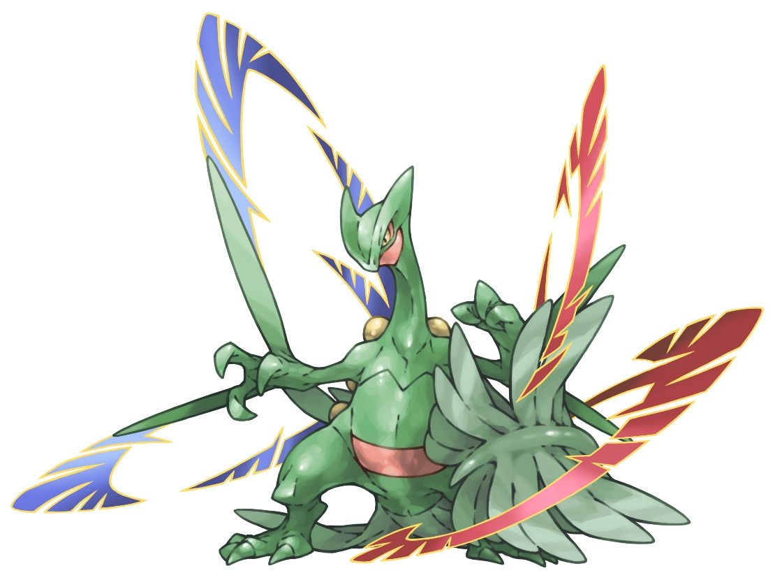 Pokemon coloring pages mega sceptile - Jungle Pokemon Jukain Mega Sceptile