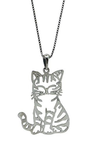 Sterling silver cat pendant chain necklace w 18 inch ch http sterling silver cat pendant chain necklace w 18 inch ch http aloadofball Choice Image