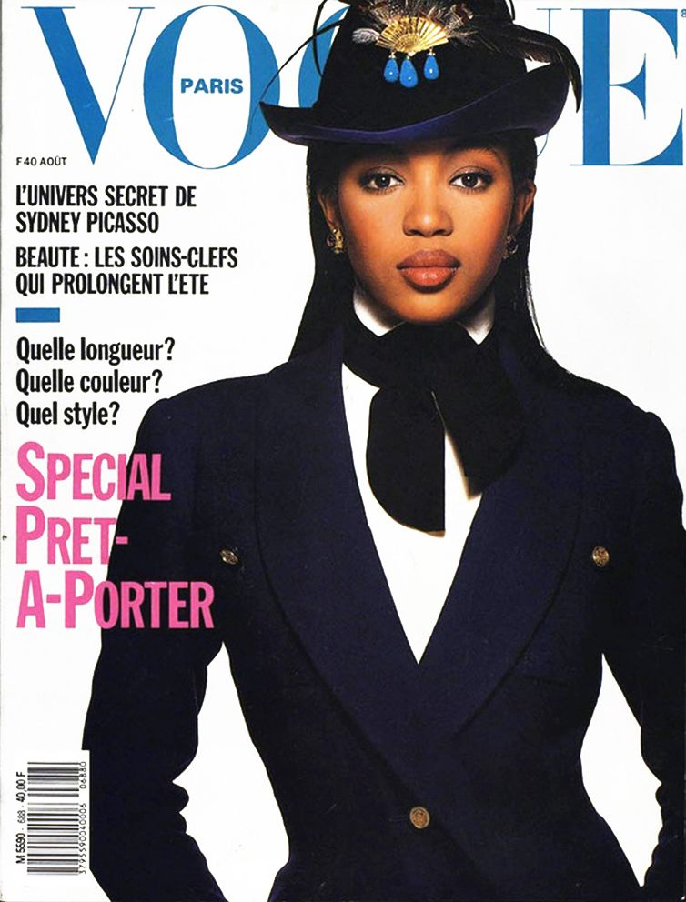 Noami Campbell Vogue Paris 1988