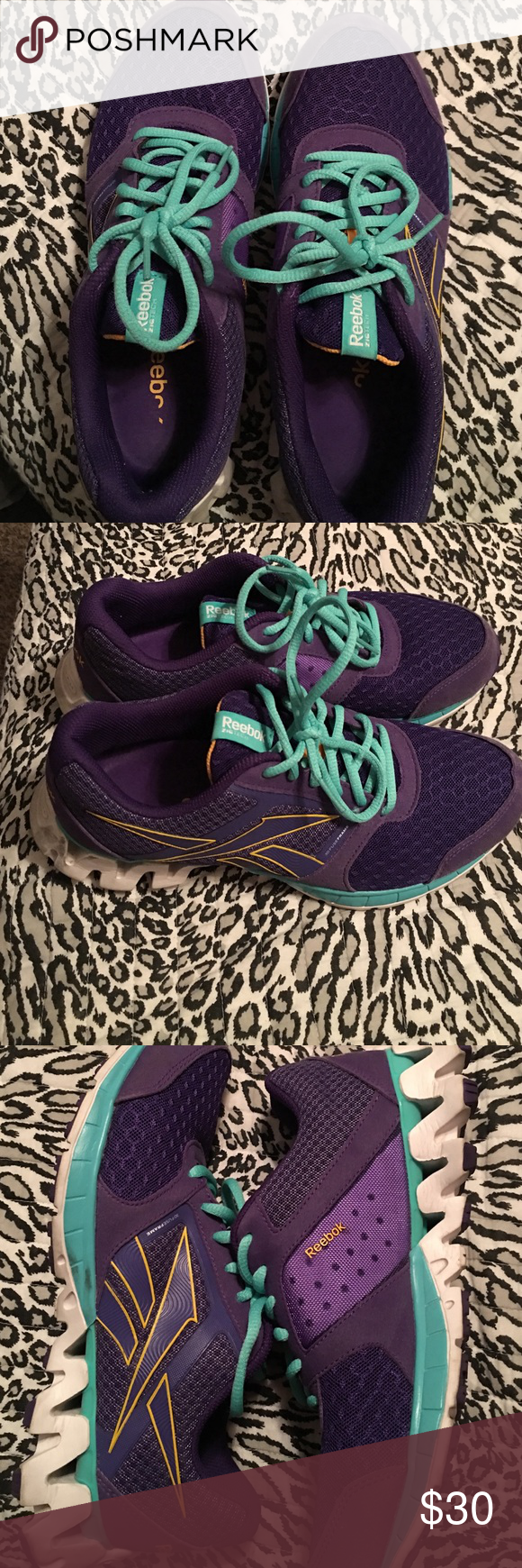 💜💜Reebok Zigtech Shoes Size 8.5 💜💜 💜💜Good Condition 💜💜 Reebok Shoes Sneakers