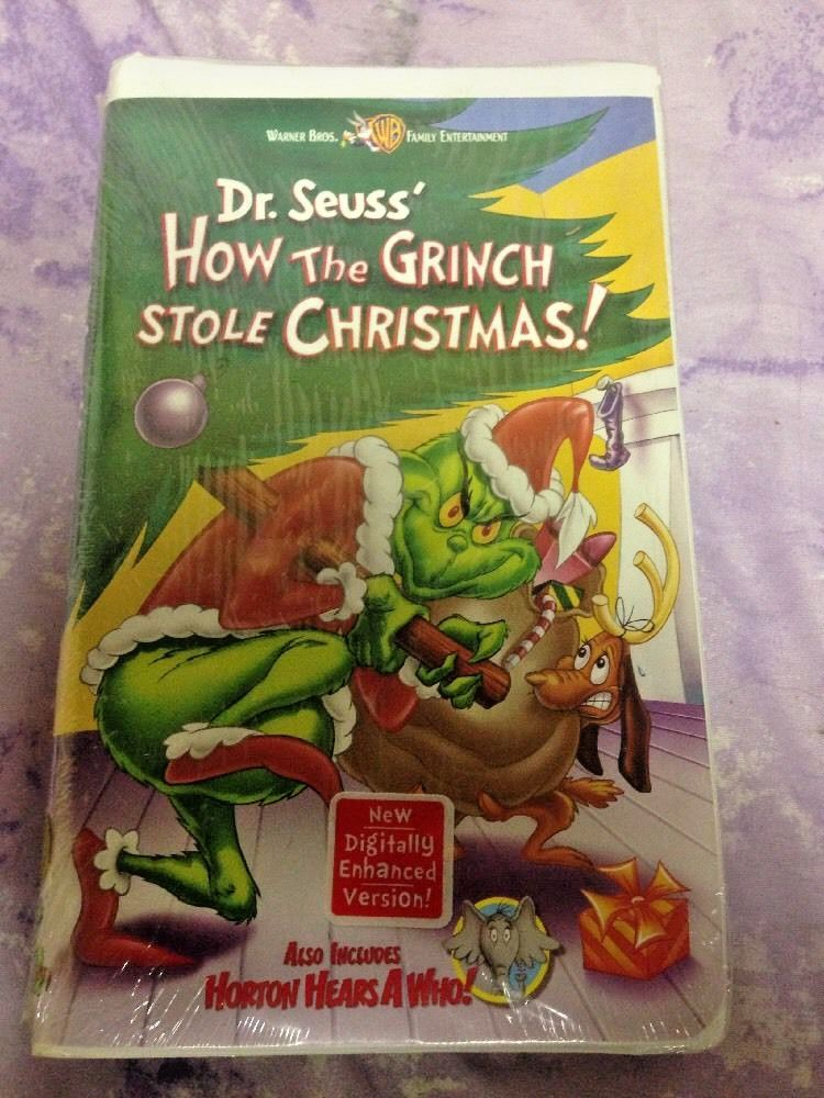 How The Grinch Stole Christmas 2000 Vhs.How The Grinch Stole Christmas Horton Hears A Who Vhs