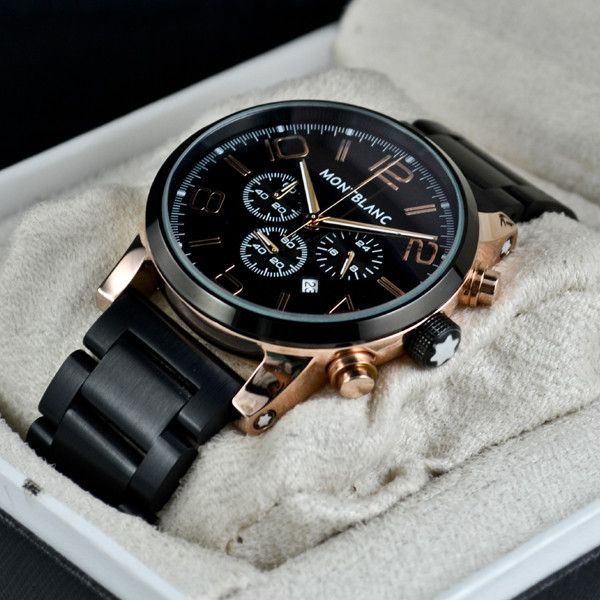 d3084a1ca49 MONTBLANC TIMEWALKER BLACK COPPER Price In Pakistan Size   Gents Movement    Japanese Quartz Chronograph Strap